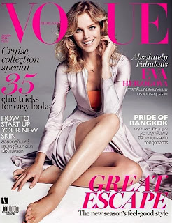 Magazine Photoshoot : Eva Herzigova Photoshot For Marcin Tyszka Vogue Magazine Thailand January 2014 Issue