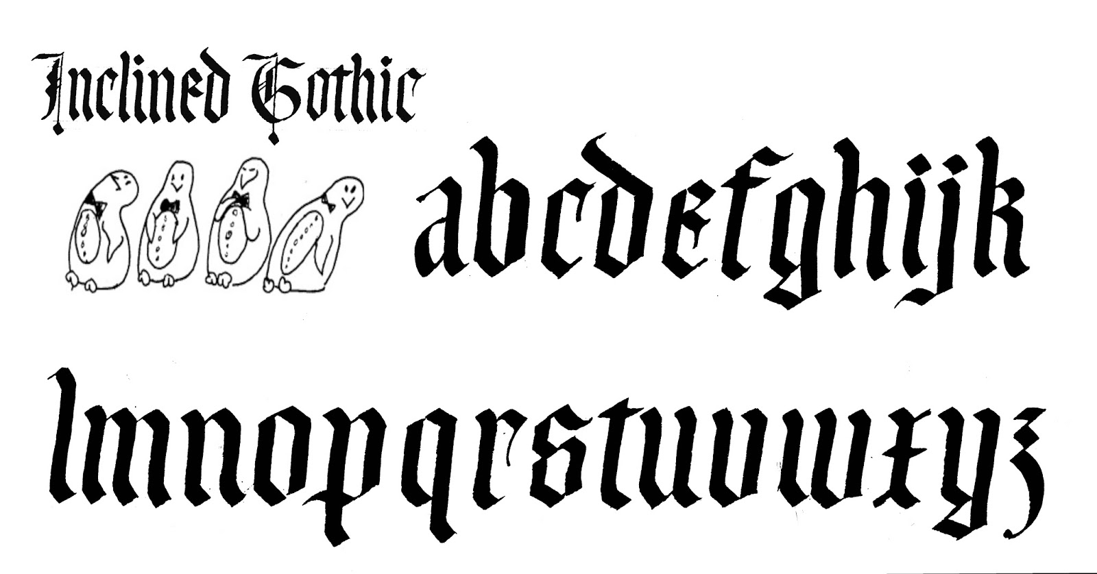 Margaret shepherd calligraphy inclined gothic