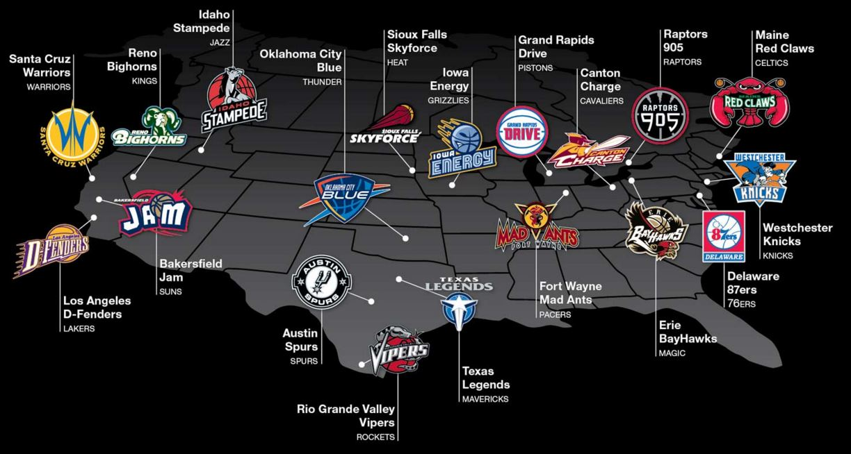 NBA D-League teams 2015-2016