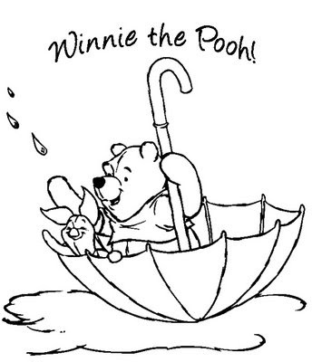 winnie pooh coloring pages birthday. Winnie The Pooh Coloring Pages