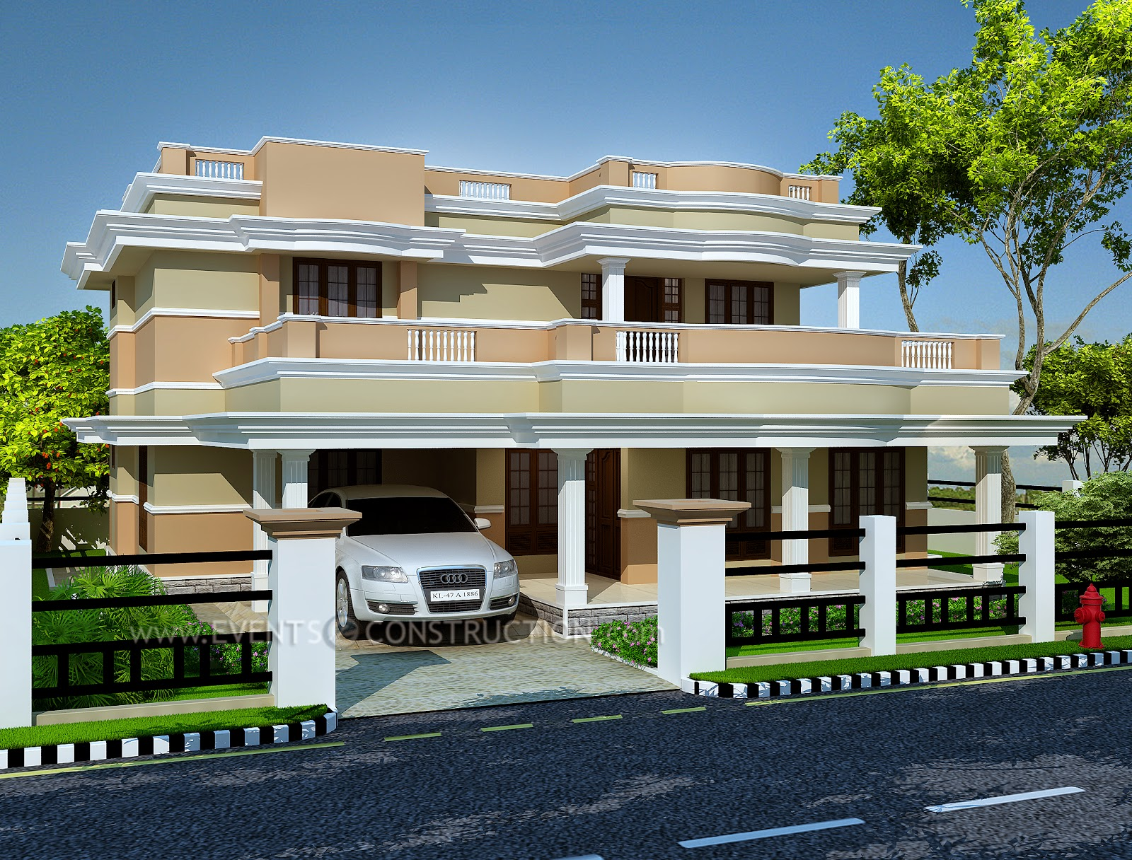 2350 sq feet home model in kerala