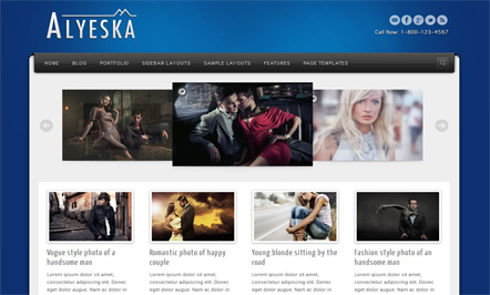 Alyeska Blogger Template