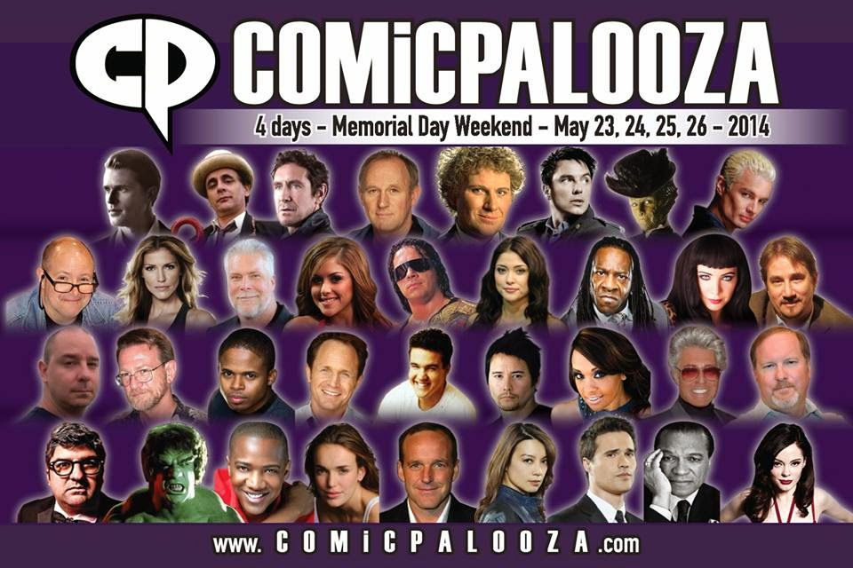 Comicpalooza 2014 Line-Up