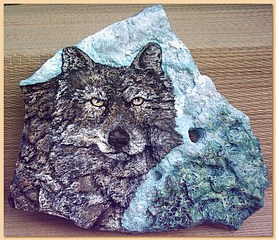 Timber Wolf Spiritkeepers Stone #sk043 by Tree Pruitt