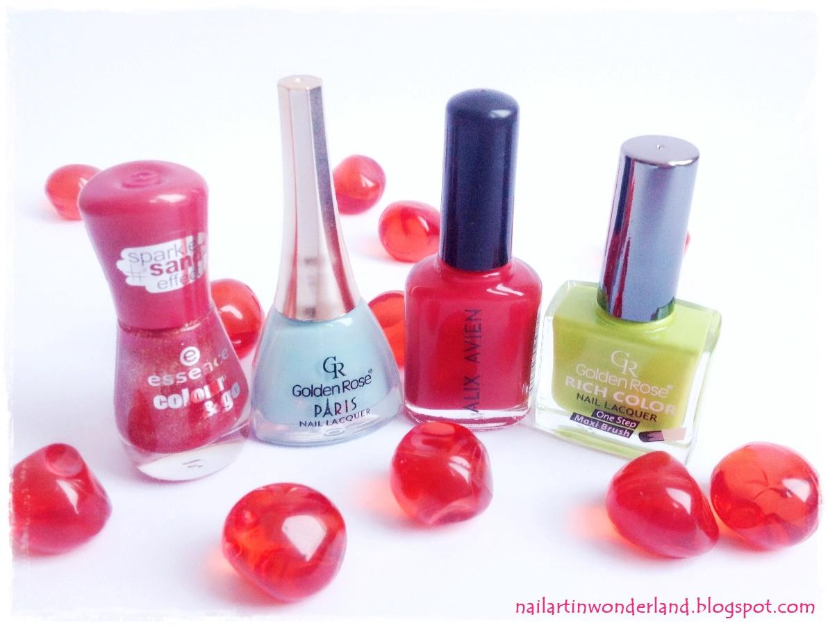 Mani Swap: Strawberry Jam Nail Art - Çilek Reçeli Tırnak Süslemesi
