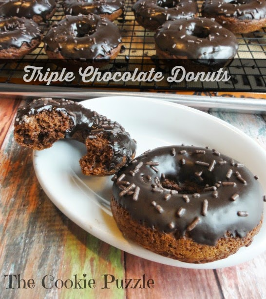Triple Chocolate Donuts | The Cookie Puzzle