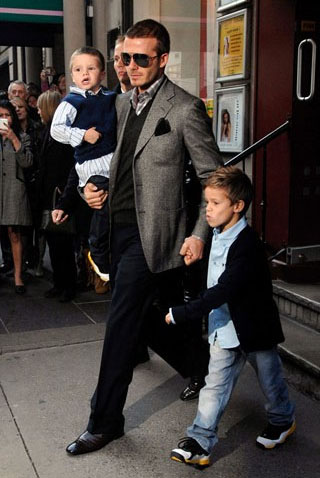 David Beckham British gentleman