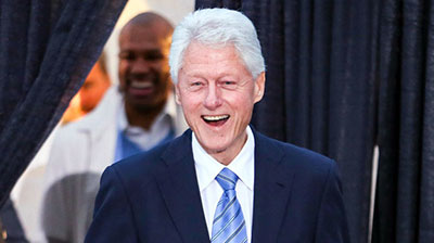 Bill Clinton can't wait to play golf at Menie!