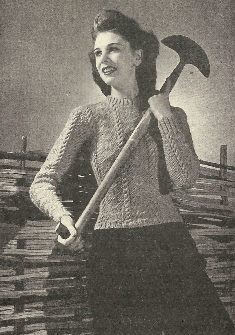 Free 1940s Knitting Pattern: Ladies Cable Pullover | Renée And The ...