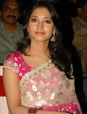 Actress Tamanna in Sari photo