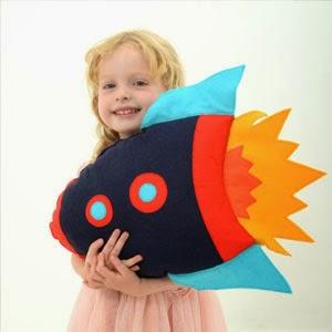 Buy Handmade | Christmas Gift Guide For Children - Rocket Cushion