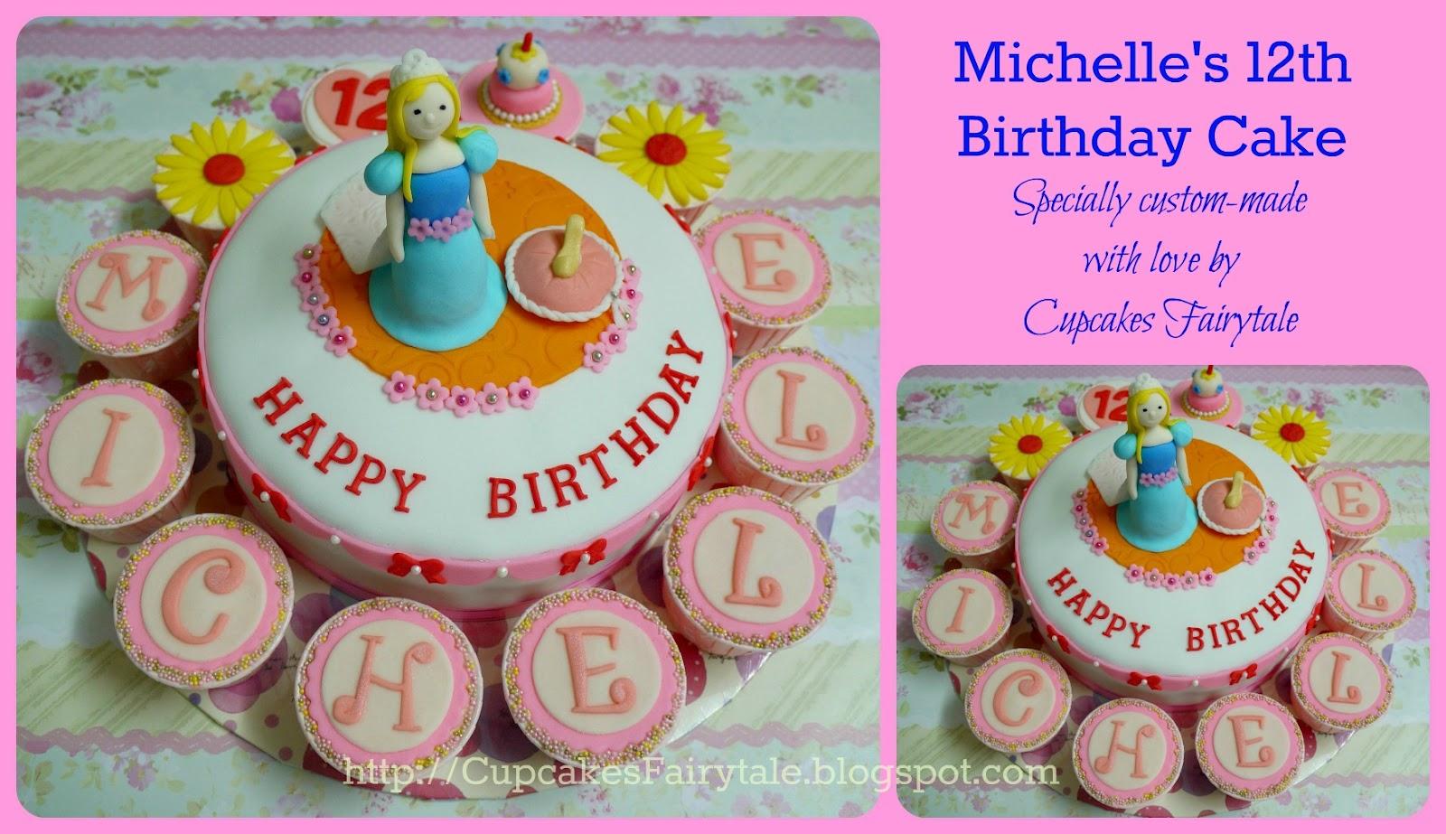 Cupcakes Fairytale Michelles 12th Birthday Cake