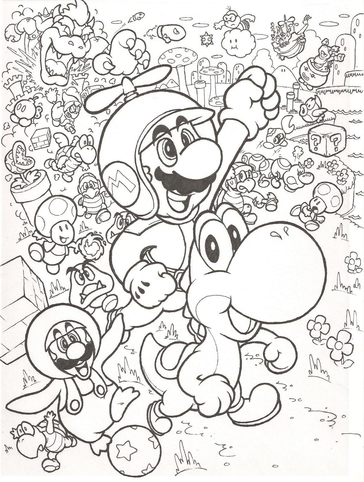 desenhos do super mário para colorir desenhos para colorir