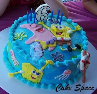 Spongebob Squarepants Birthday Cakes Toppers