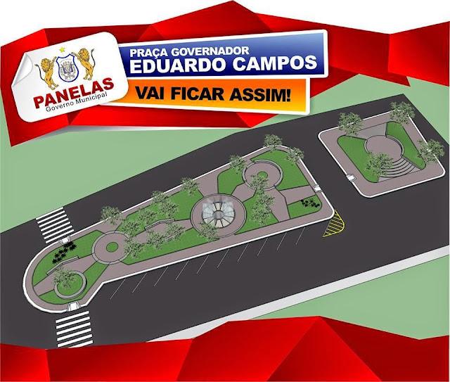 Projeto da Praça Eduardo Campos em Panelas-PE