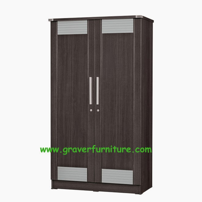 Lemari Pakaian 2 Pintu LP 2895 Graver Furniture