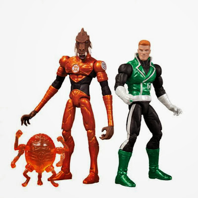 WonderCon 2013 & C2E2 2013 Exclusive Green Lantern DC Collectibles Action Figure 2 Pack - Guy Gardner & Larfleeze with Glomulus