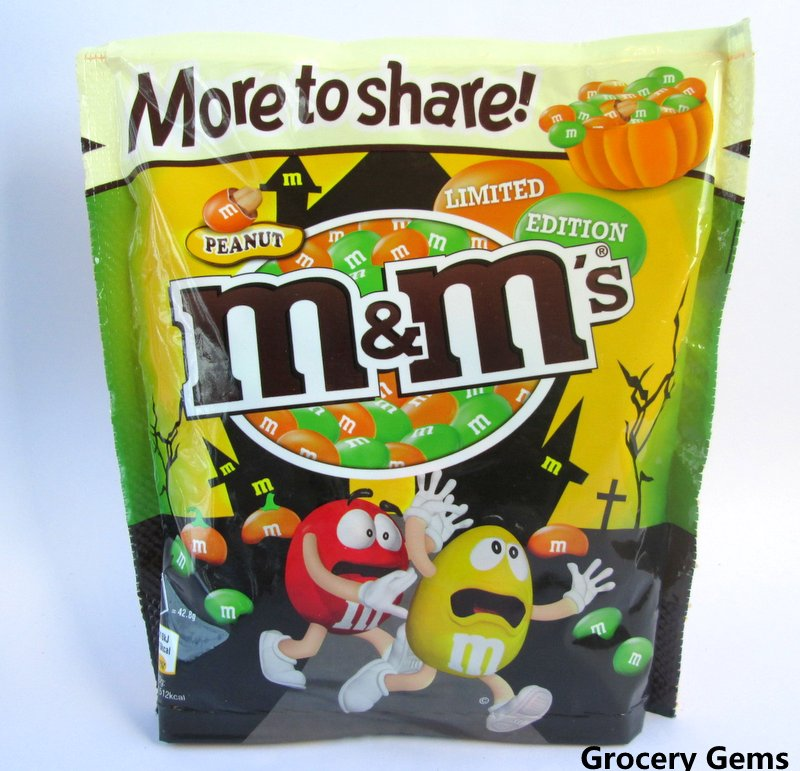 mms limited edition halloween green orange colours