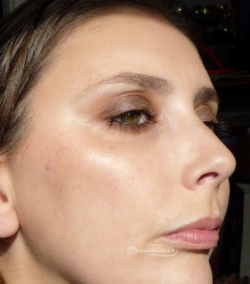 Smashbox L.A. Lights in Silver Lake Sunset cream blush stick worn on face swatch glow