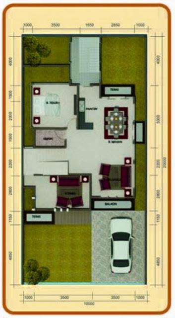 Denah Rumah Lantai 2 Ruang Keluarga