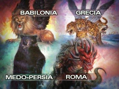 cuatro bestias, cuerno pequeño