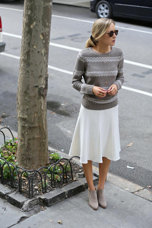 piperlime taupe ivory lattice knitwear sweater pim larkin winter white ...