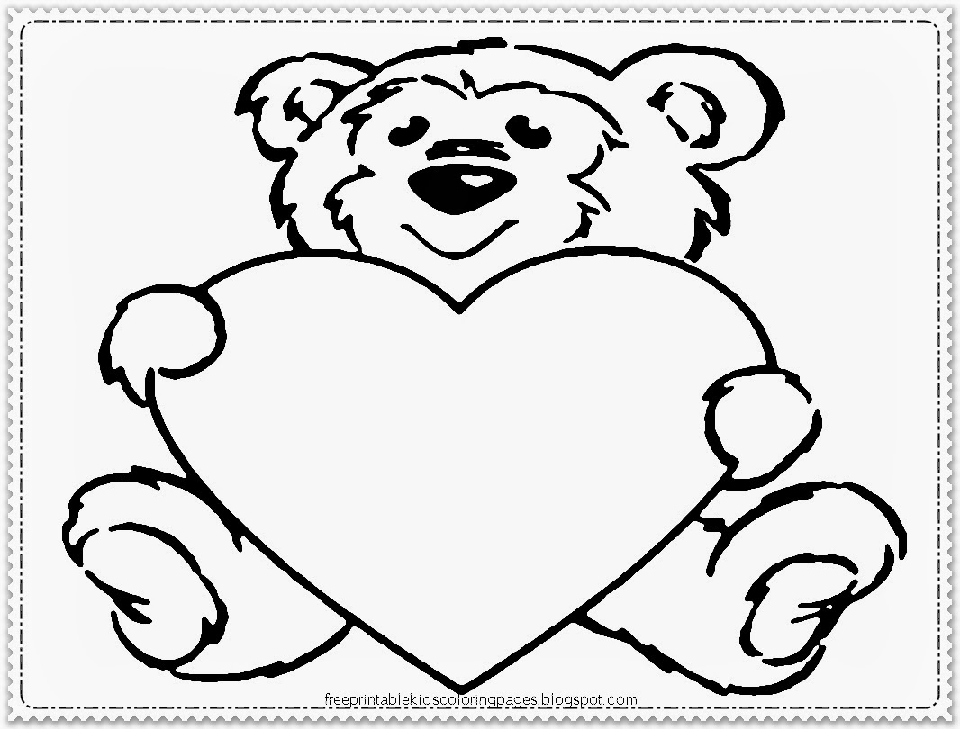Coloring Pages Valentines Day Pooh Bear
