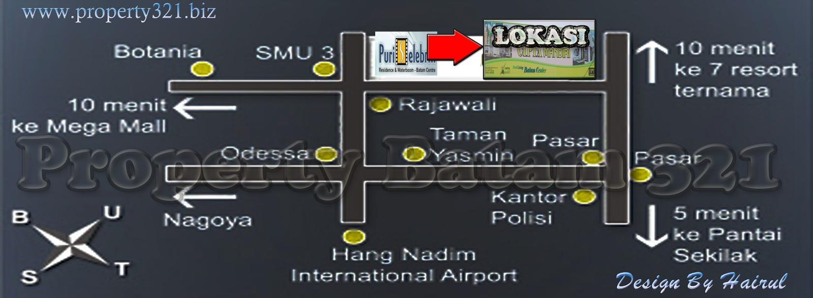 Lokasi Perumahan cipta Mandiri Batam centre.