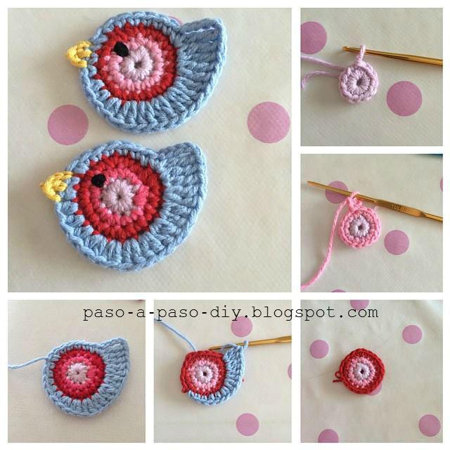 Pajaritos tejidos al crochet paso a paso