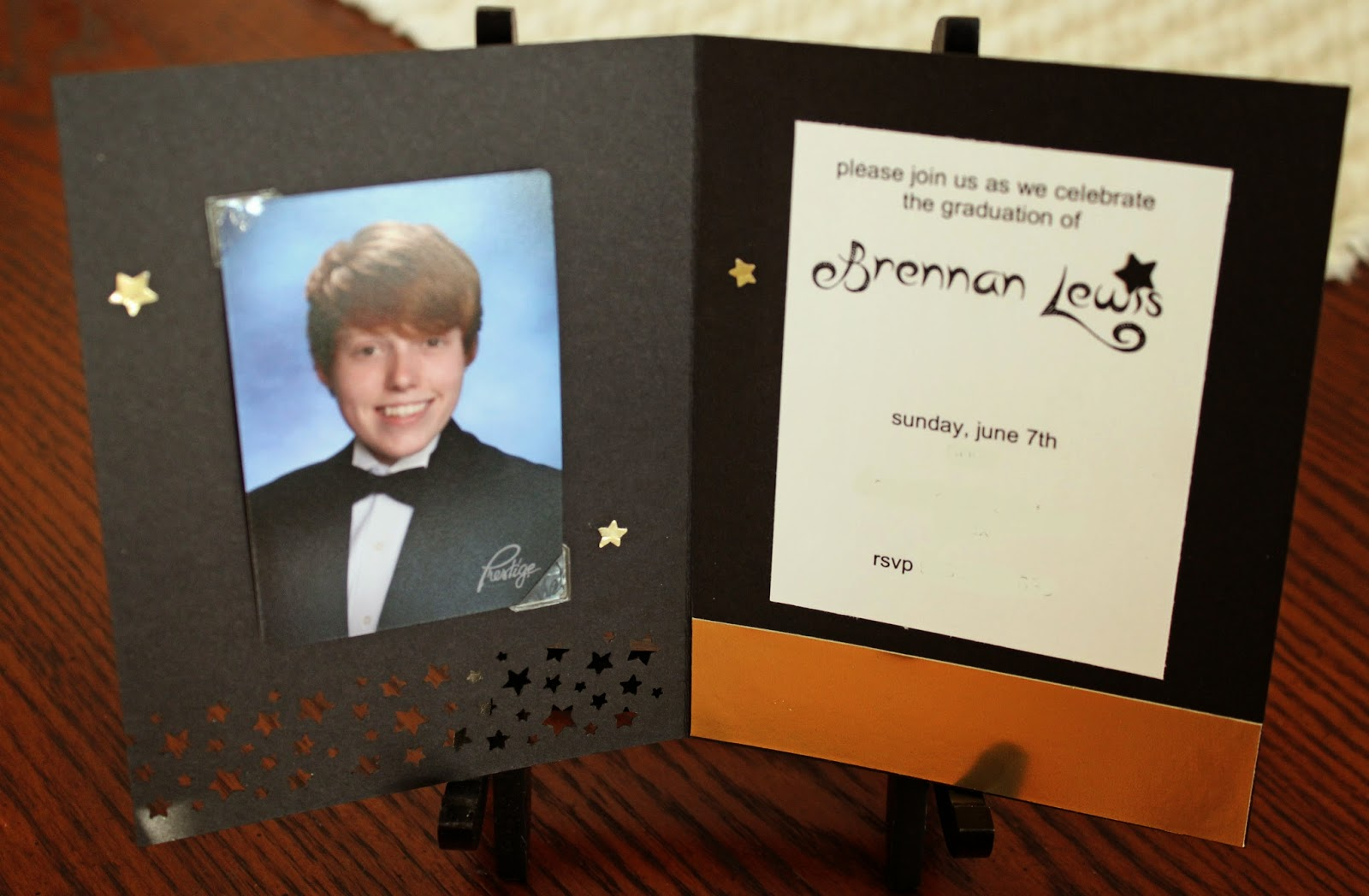 Graduation announcements made by hand