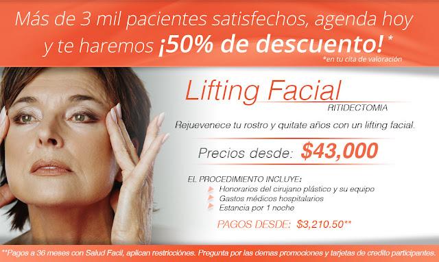 rejuvenecimiento estiramiento lifting facial de rostro en Saltuaris Guadalajara