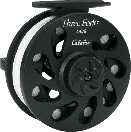 Mottled fly fisher gear review cabela 39 s three forks fly reel for Cabela s fishing reels