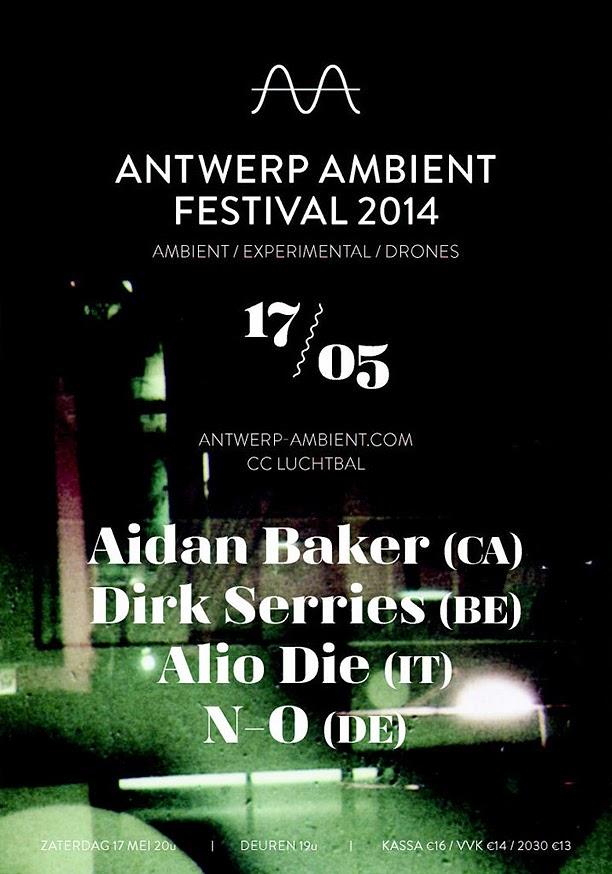 L'affiche de l'édition 2014 de l'Antwerp Ambient Festival / source : antwerp-ambient.com