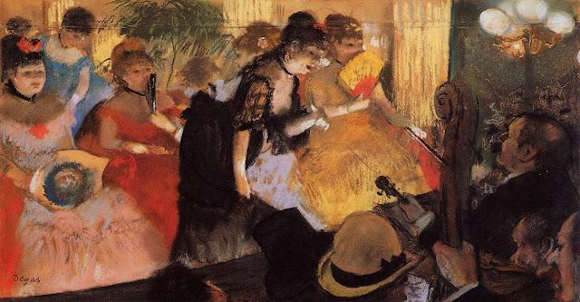 the cafe conccert,music dance,edgar degas