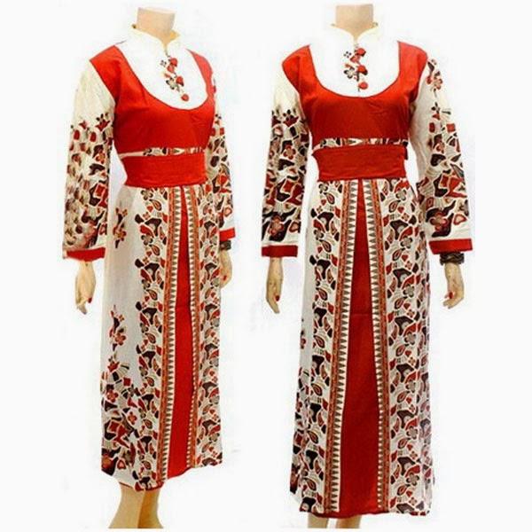Baju Batik Dress Muslim motif batu