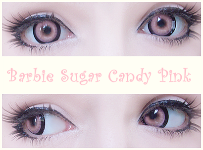 Candy Eyes for Halloween: Barbie Sugar Candy Pink Circle Lenses