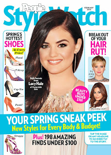 Magazine Cover : Lucy Hale Magazine Photoshoot Pics on People Stylewatch Magazine February 2014 Issue