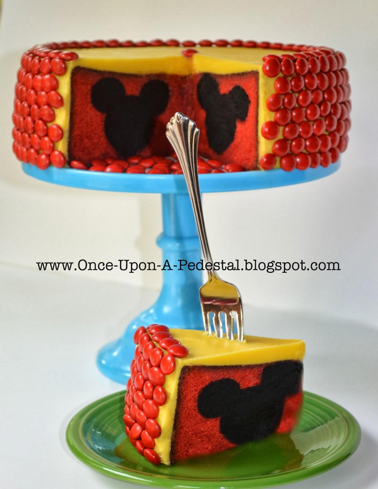Hidden Design Cake Ideas : Once Upon A Pedestal: Surprise Inside Cake - Hidden Mickey ...