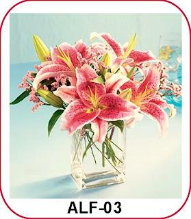rangkaian bunga lily casablanca