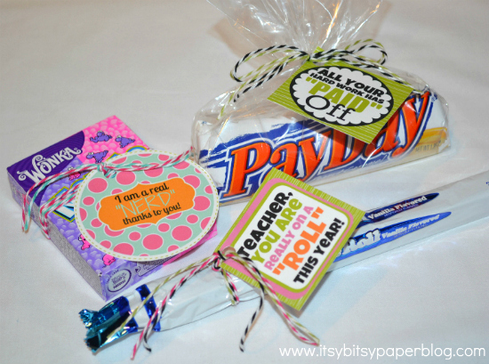 Itsy Bitsy Paper: . . . Candy for Teacher Appreciation . . .