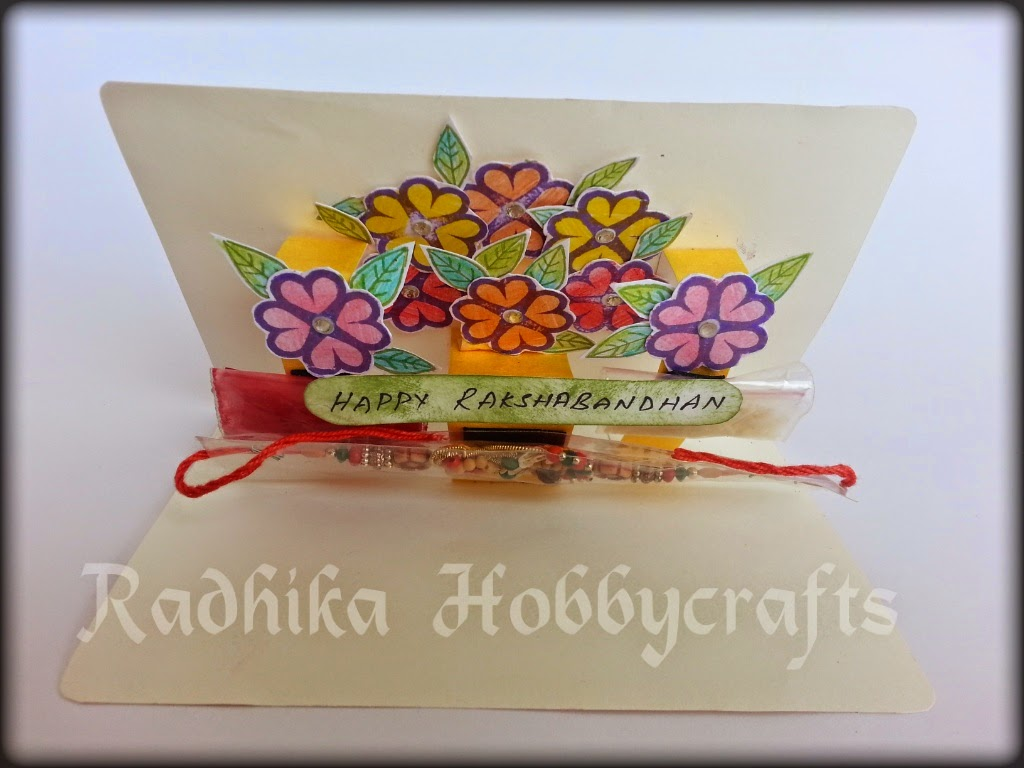 Hobby Crafts Pop Up Rakhi Card