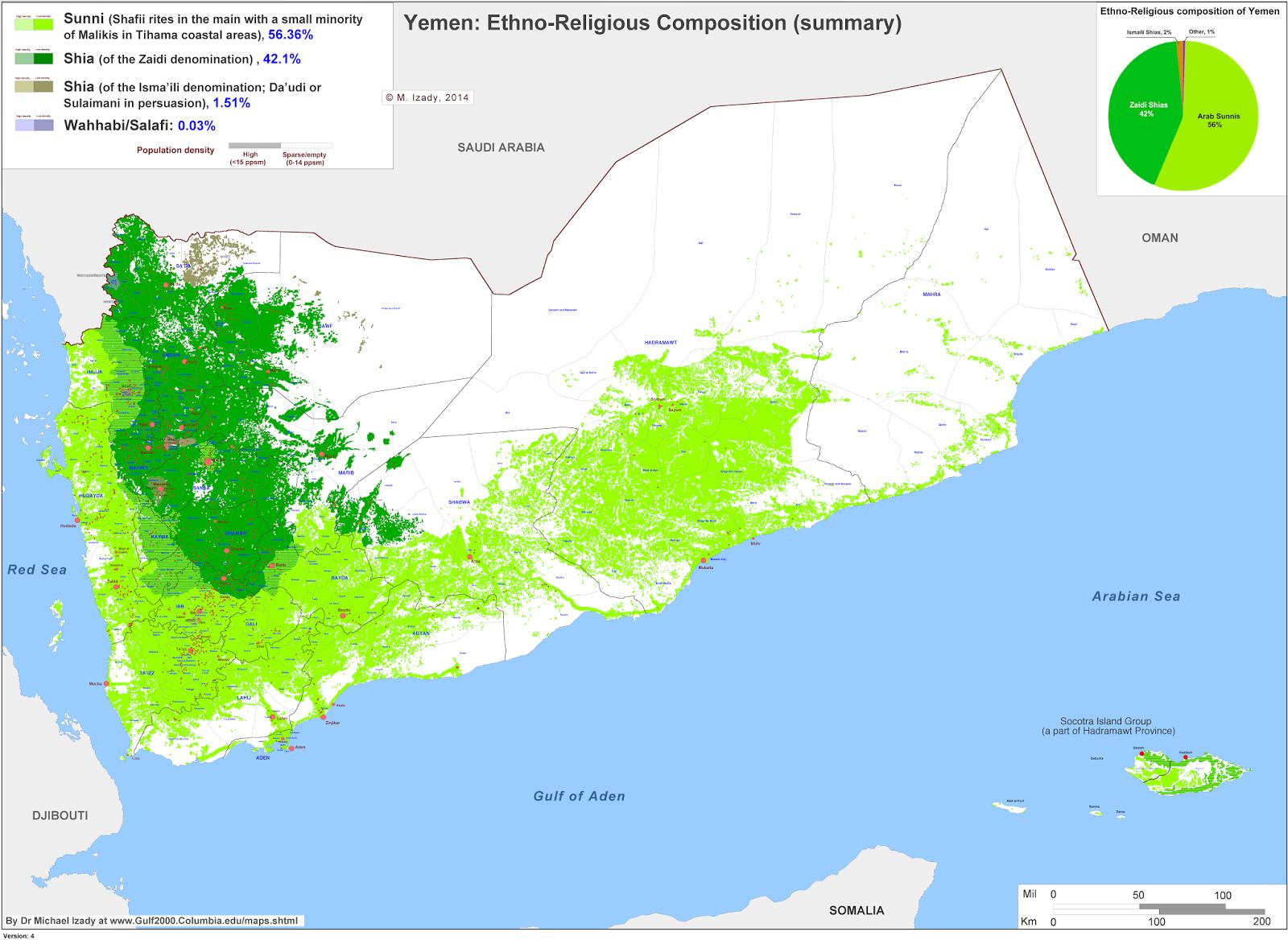 Yemen Map Religion - Yemen map png