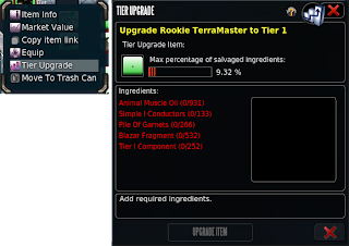 Entropia Universe - Tier Upgrade