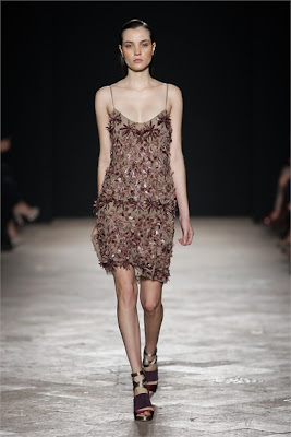 Maurizio Pecoraro - Spring Summer 2013 Fashion Show - floral sequin dress