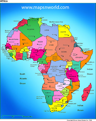 Africa Map Region Country