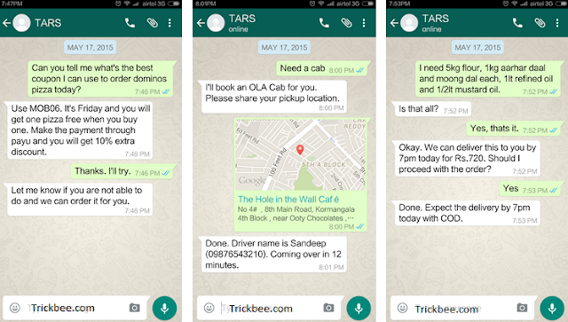 TARS: The New WhatsApp Based Personal Assistant