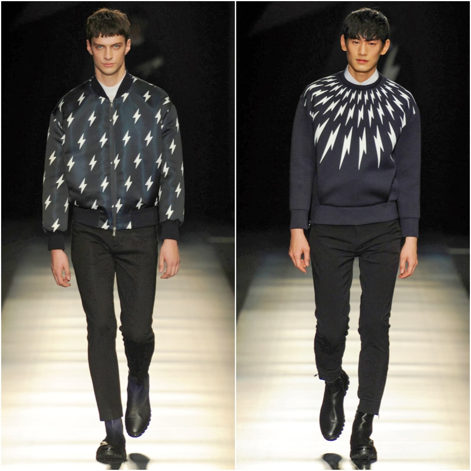 Neil Barrett in Neil Barrett - Dsquared2 Fall Winter 2014 Show, #MFW