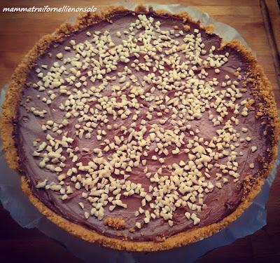 Cheesecake-crema-di-nocciole-senza-cottura