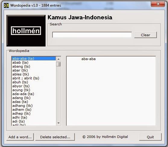 Aplikasi Kamus Bahasa Jawa Indonesia Blog Seputar Dunia Pendidikan