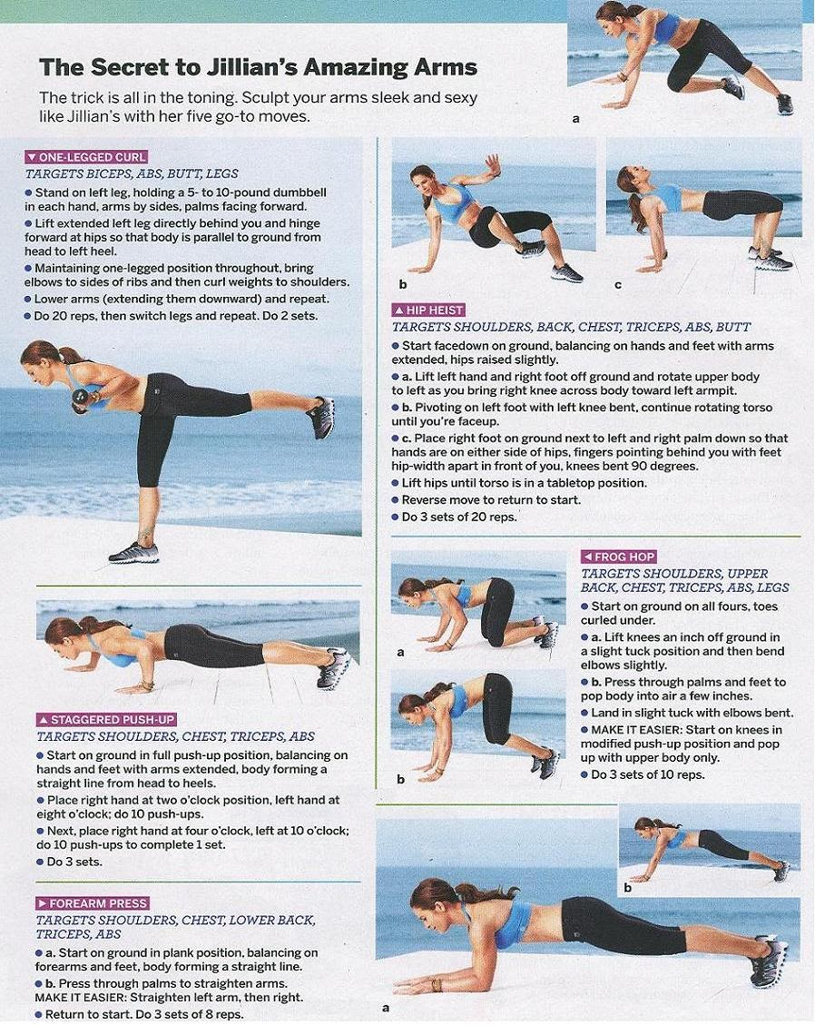 Health food and fitness arm workouts
